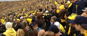 Sea of People. Photo taken at my first Michigan/Michigan State football game.