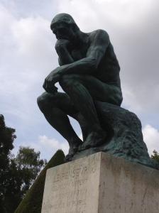 The Thinker, photo taken at Musee Rodin, Paris